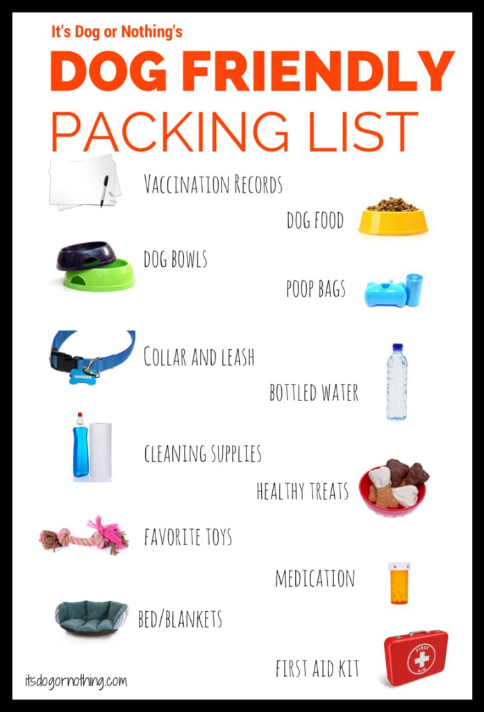 Travelling with dogs in Dogland – Travel Tips – Packing List (infographic)