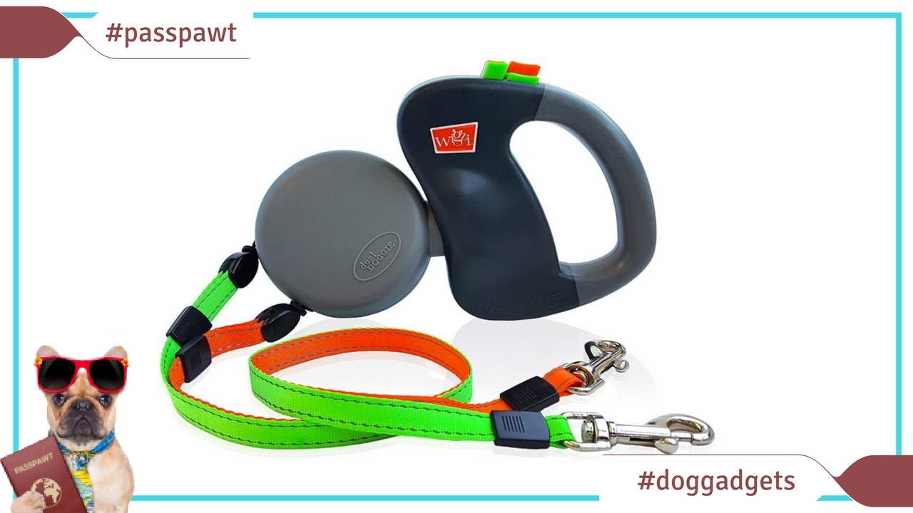 Dogs Pet Shop – Leads and collars – Non-tangling retractable leash for 2 dogs